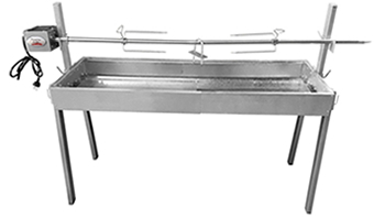 Charcoal Extendable Spit Roaster Rotisserie