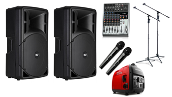 Dual Presentation Wireless PA System with Generator