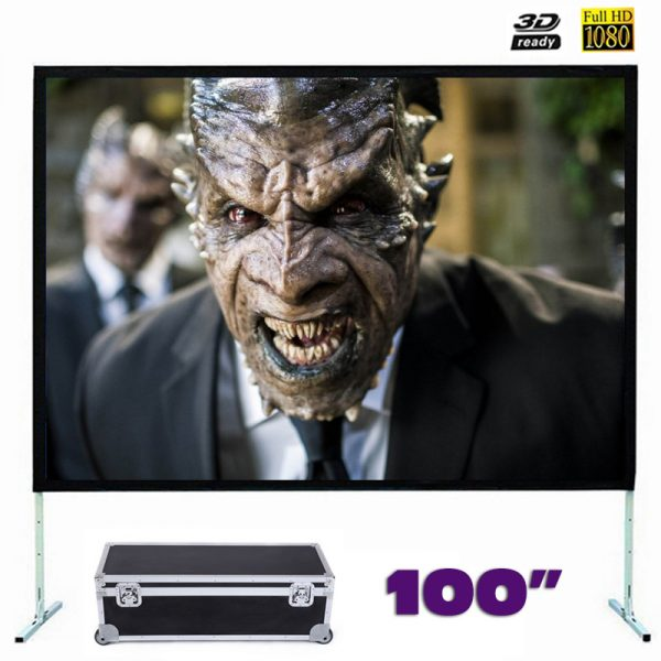 Fast Fold Front Projection Screen 100 Inch 16:9 Ratio