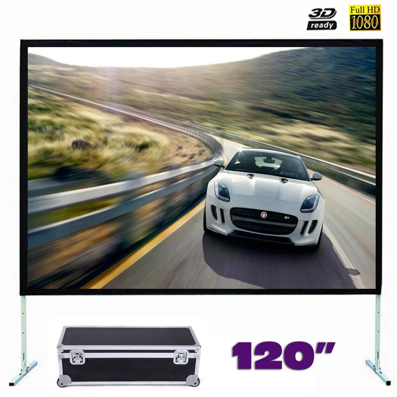 Fast Fold Front Projection Screen 120 Inch 16:9 Ratio