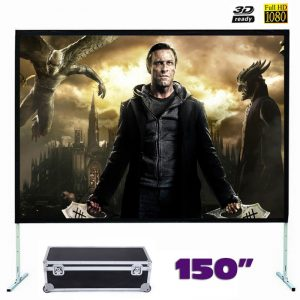Fast Fold Front Projection Screen 150 Inch 16:9 Ratio