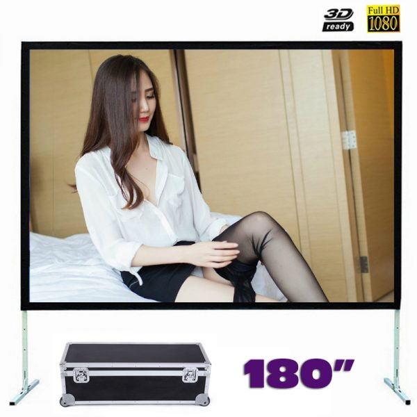 Fast Fold Front Projection Screen 180 Inch 16:9 Ratio