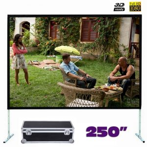 Fast Fold Front Projection Screen 250 Inch 16:9 Ratio