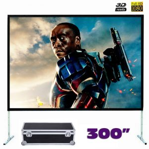 Fast Fold Front Projection Screen 300 Inch 16:9 Ratio