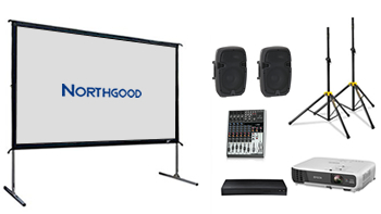 Indoor/Outdoor 2.5m Wide Cinema Screen Budget Package