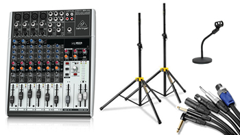 Mixer, Stands, Cables