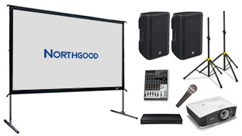 Indoor/Outdoor 3m Wide Cinema Screen Package