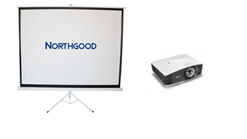 Projector and 2m Wide Screen