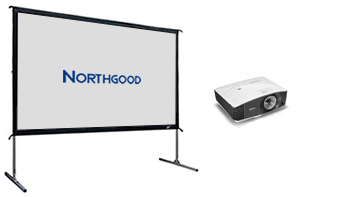 Projector and 3m Wide Screen